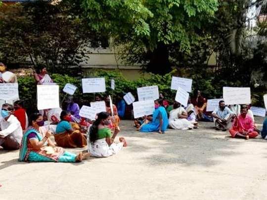 Mananthavady Godavari Colony Natives Protest