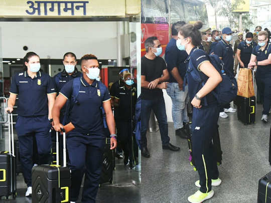 india w vs south africa w south african women cricket team arrived at lucknow for odi and t20 series