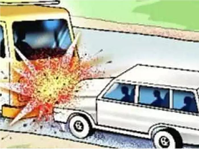 Dholpur news : कार- ट्रक में जबरदस्त भिड़ंत, केलादेवी दर्शन करने जा रहे दो मासूमों की हुई मौत