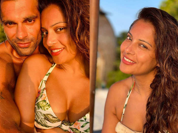 bipasha basu shared pictures with her husband karan singh grover from maldives vacation