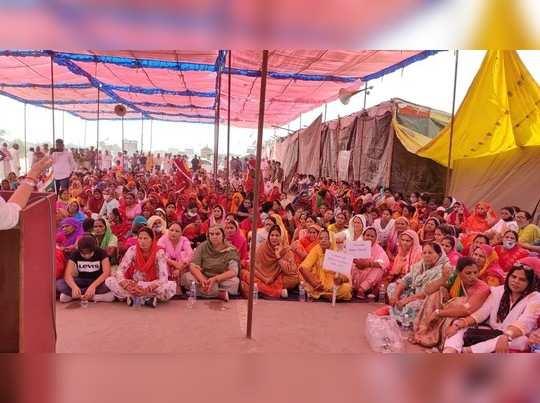 Rajasthan news : महिला कांग्रेस ने भी दिखाई किसान आंदोलन में ताकत, शाहजहांपुर बॉर्डर पर हुई एकजुट