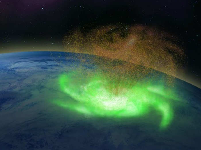 first space hurricane on earth confirmed by scientists on north pole raining down electrons