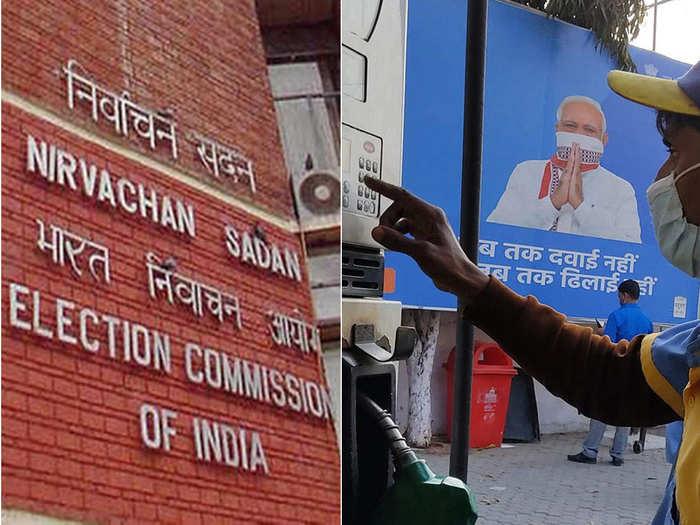election commission - pm modi hoarding