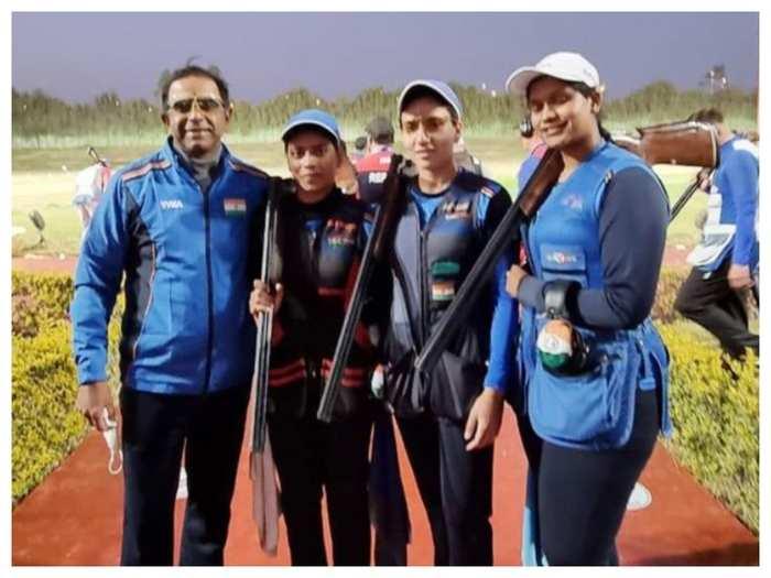 भारतीय महिला ट्रैप टीम