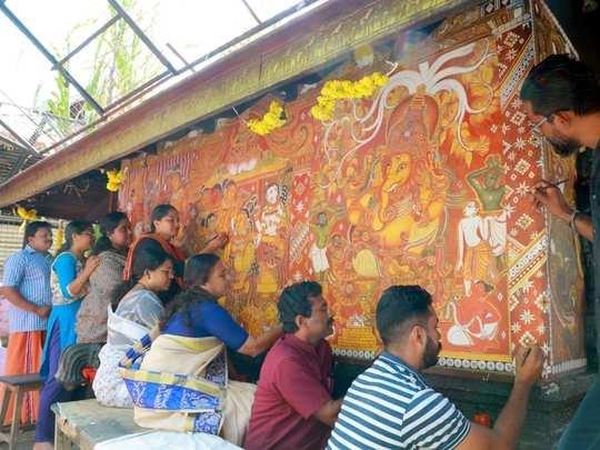 Aranmula Ganapathy Temple Mural Painting