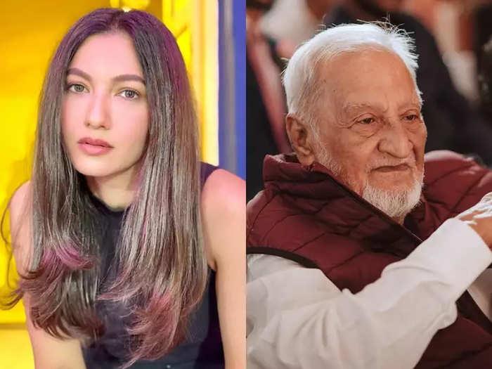 Gauahar Khan And Father Zafar Ahmed Khan