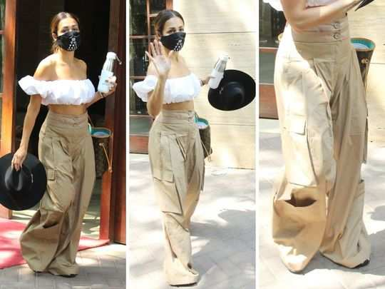 malaika arora wrinkled oversized pants make her overall style looks bad