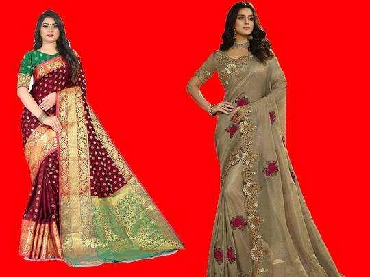 Saree For Women : Womens Day पर गिफ्ट करें ये खूबसूरत Sarees, 80% तक का मिल रहा डिस्काउंट