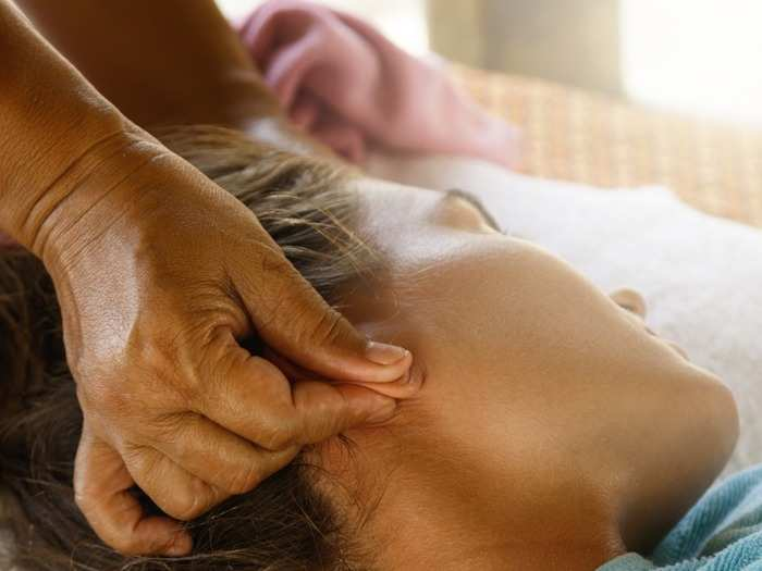 ear massage benefits pressure point for stress headaches pain