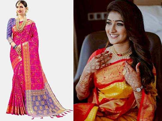 सिल्क की इस Saree को पहनकर कई गुना बढ़ जाएगी आपकी सुंदरता, केवल 999 रुपए में खरीदें