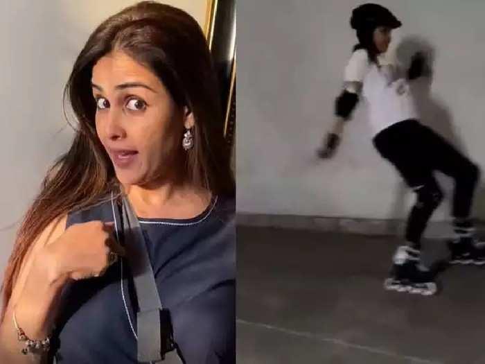 स्केटिंग करताना धपकन पडली जेनेलिया , व्हिडीओ शेअर करुन म्हणते...