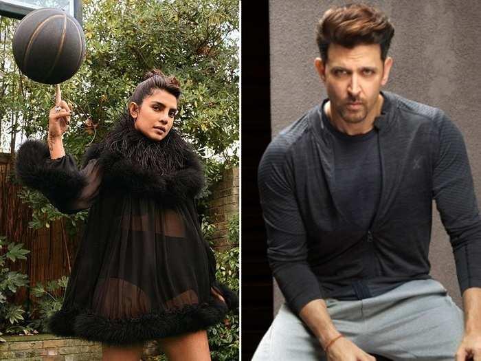 priyanka chopra trolled for high heels basketball and transparent dress hrithik roshan has perfect answer