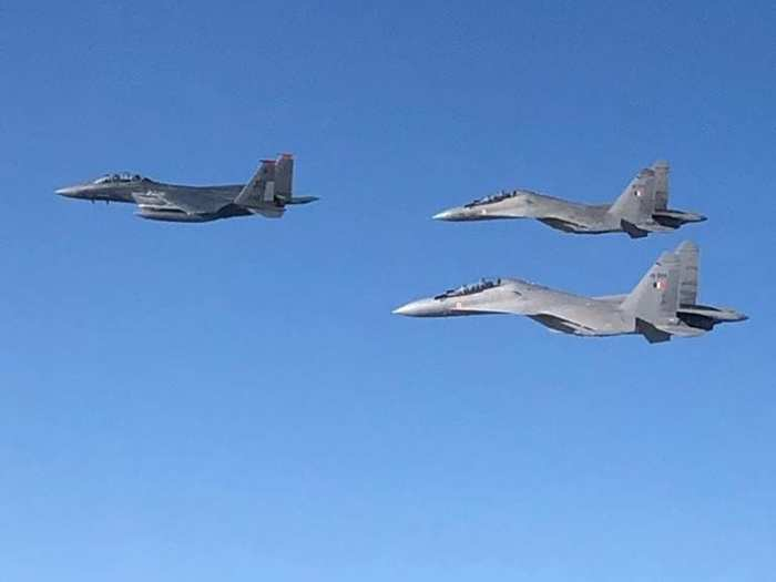 indian air force sukhoi su-30mki in exercise desert flag vi with uae air force, effect on pakistan imran khan