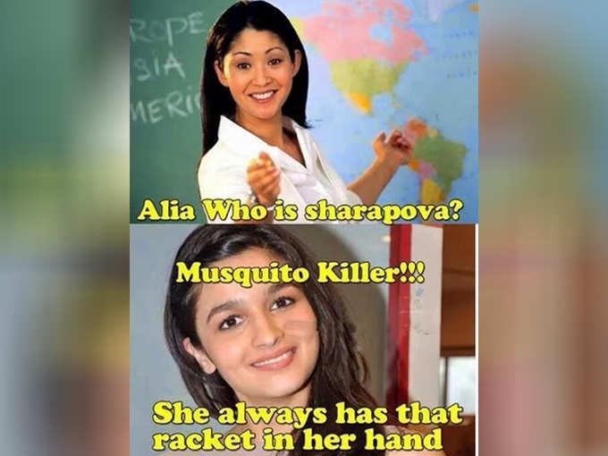 मच्छर मारती हैं शारापोवा...