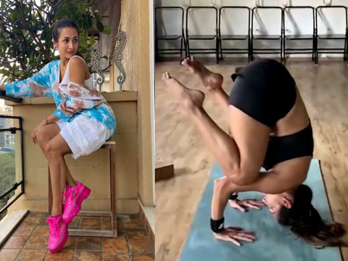 Malaika Arora shared a difficult Yoga pose video