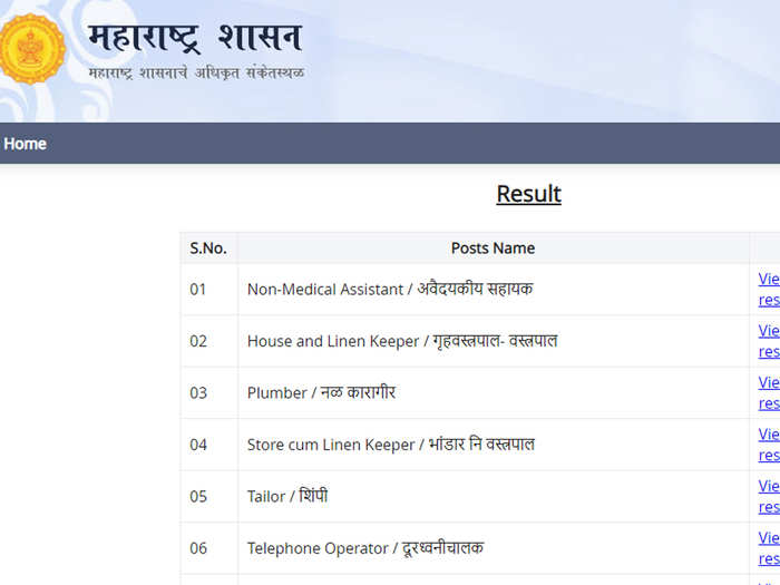 महाराष्ट्र आरोग्य विभाग ग्रुप सी भरती परीक्षेचा निकाल जाहीर