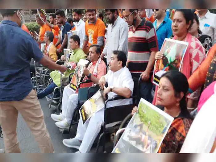 कोलकाता में बीजेपी की वीलचेयर रैली