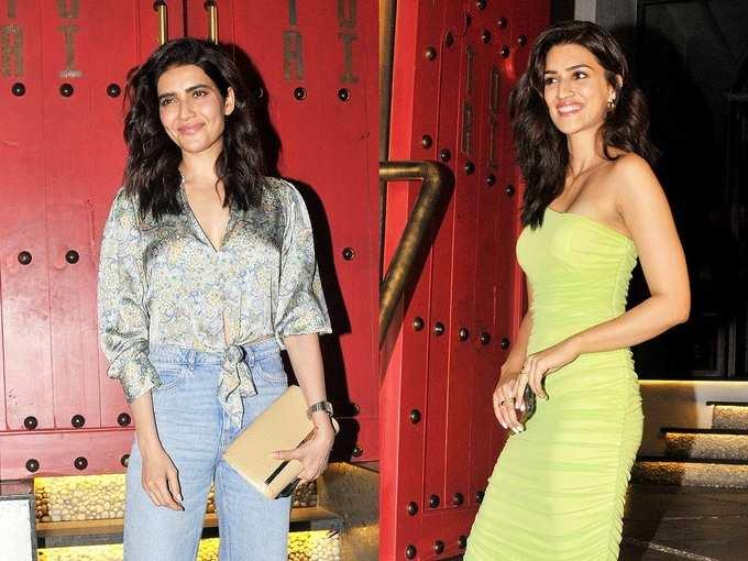 कृति सेनन और करिश्मा तन्ना का हुस्न देख हो ना जाना घायल, फैशनेबल अंदाज देगा स्टाइल गोल्स