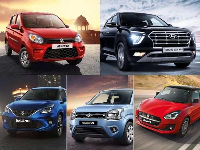 maruti suzuki alto to swift to wagon r to baleno to hyundai creta here are top five best selling cars in india in february 2021