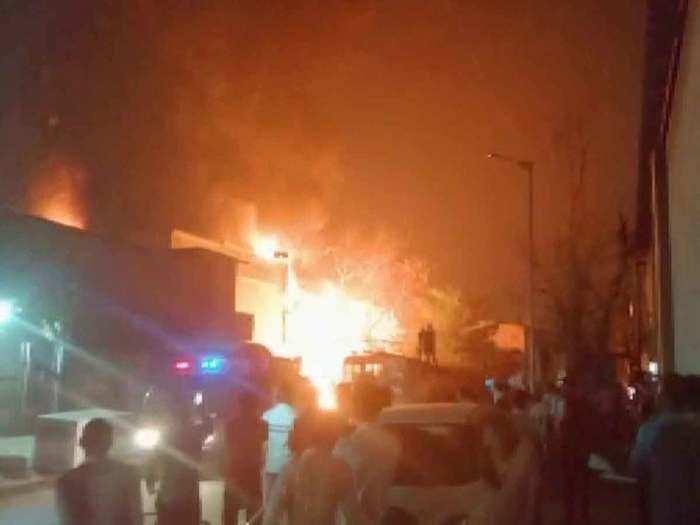 अहमदाबाद में आग