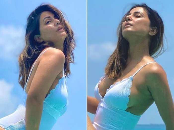 hina khan brutally trolled for wearing swimsuit in maldives fans says musalman ke naam pe dhabba hai tu
