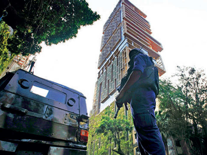 Security at Antilia after the incident
