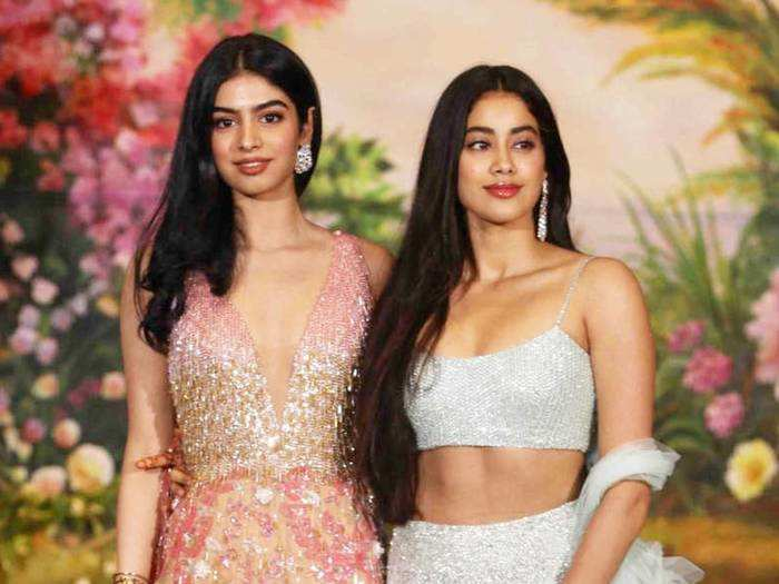 khushi kapoor trolled for her red crop top and jeans at reena marwah birthday party