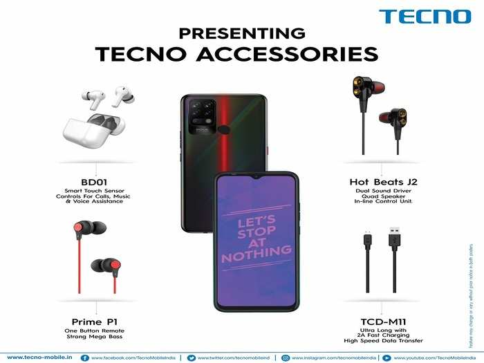 Tecno New Earbuds Earphones Micro USB Cable 1