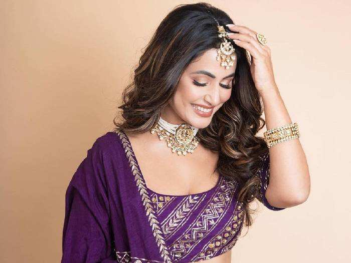 holi fashion 2021 hina khan inspired indian outfits for the festival