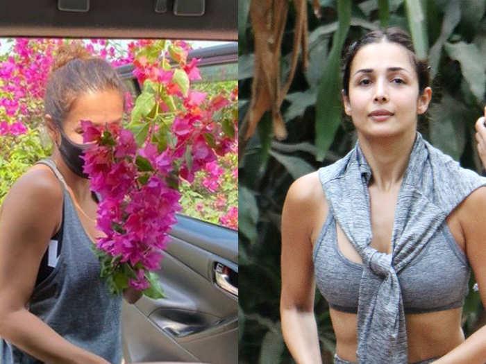 Malaika arora stole the flowers