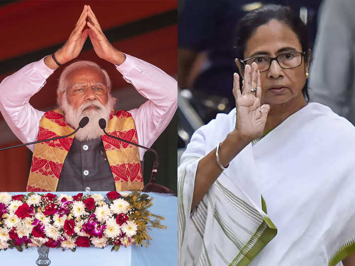 पीएम नरेंद्र मोदी और पश्चिम बंगाल की सीएम ममता बनर्जी