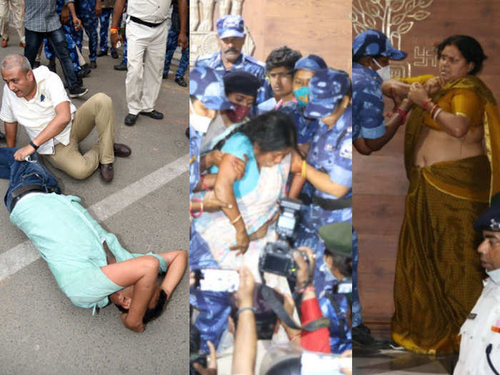 bihar vidhan sabha hungama opposition rjd mla beaten protest clash police special armed police bill 2021 time line