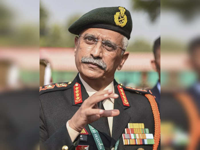 New Delhi: Army Chief General Mukund Narwane interacts with media persons, at th...