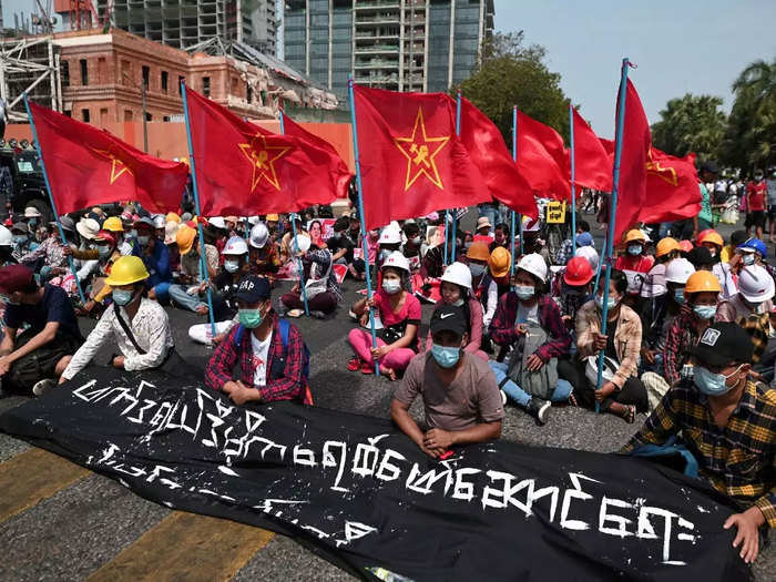 myanmar coup protests