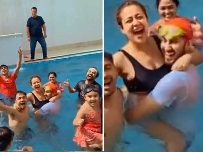 Neha kakkar Shares her pre Holi fun video