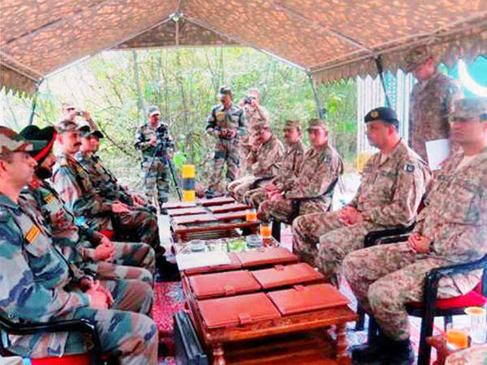 india pak army meeting