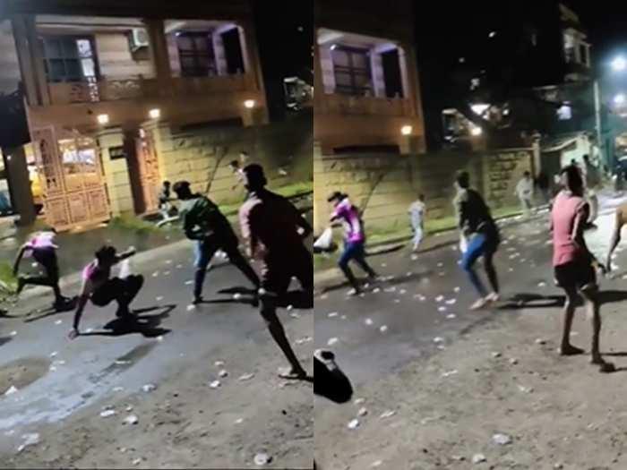 Holi balloon fight viral video