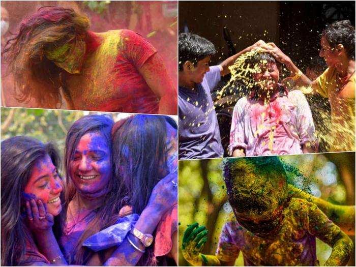 holi 2021 celebration pics from india