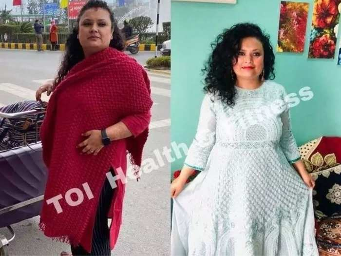 weight loss story transformation of woman who lost 10kg weight in 3 months with this diet