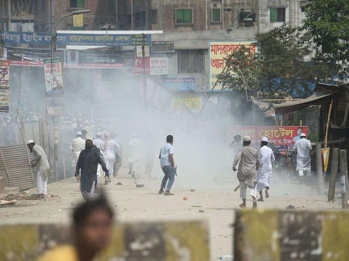 bangladesh pm modi visit violence
