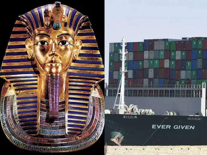 suez canal crisis train collision twitter blames ancient pharaoh curse for disasters in egypt