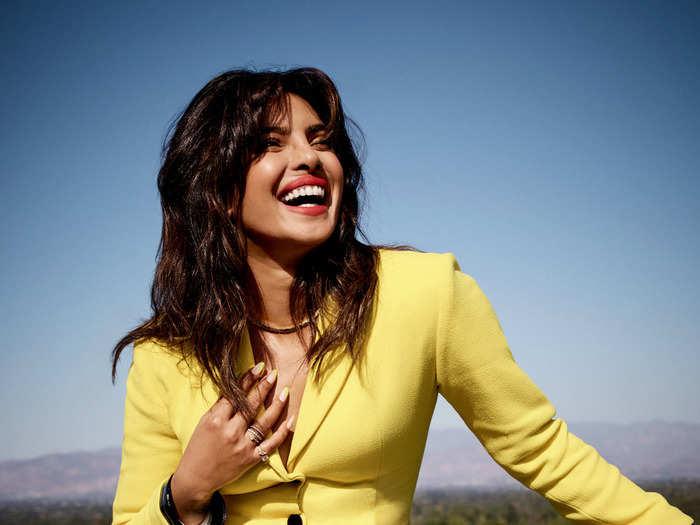 priyanka chopra in emilio pucci yellow maxi dress stun fans