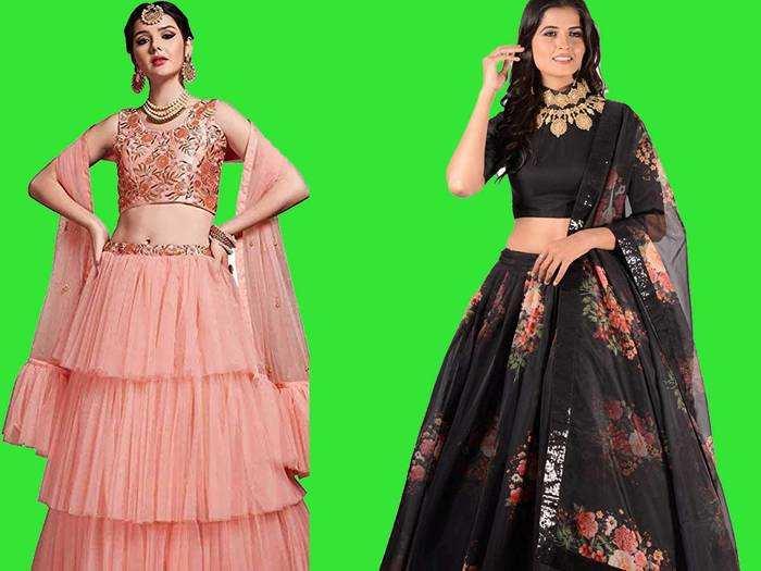 Lehenga Choli : लेटेस्ट फैशन की डिजाइनर Lehenga Choli पहन कर पार्टी में बनें सेंटर ऑफ अट्रैक्शन