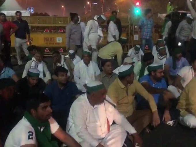 गाजीपुर बॉर्डर को किसानों ने किया जाम