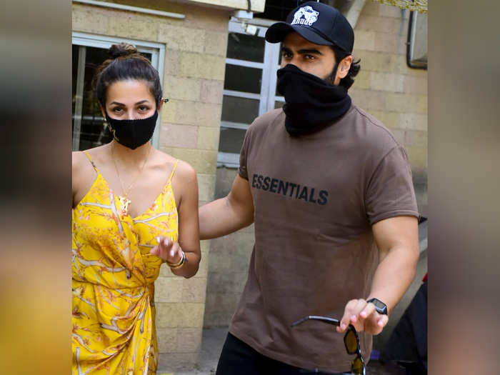 for easter lunch arjun kapoor accompanies malaika arora to her parents home see photos