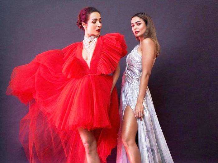 amrita arora badly trolled for her dress glittery dress at christmas party