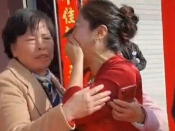 Bride breaks down in tears