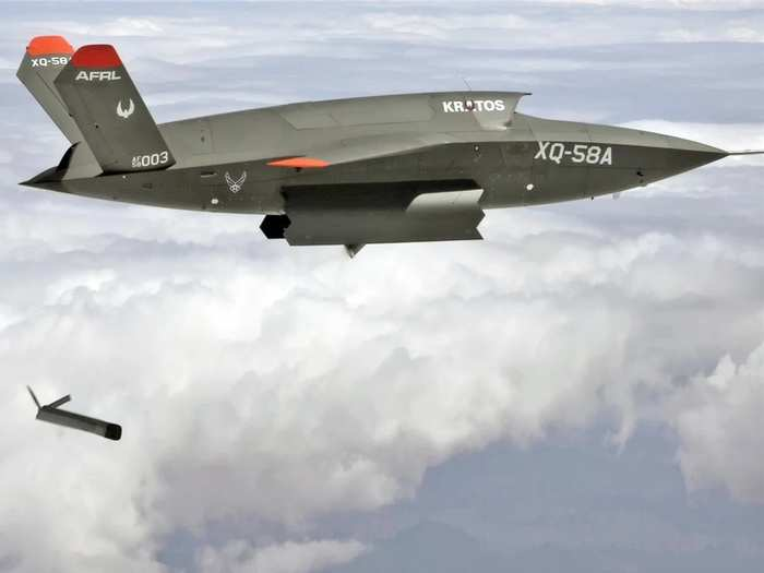 us air force xq-58a valkyrie drone launches even smaller drone altius-600 from inside payload bay all you wants to know