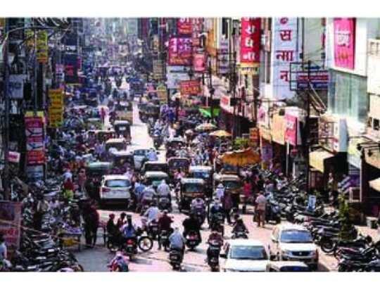 अमरावती बाजारपेठेत उसळली गर्दी; वाहतुकीची कोंडी