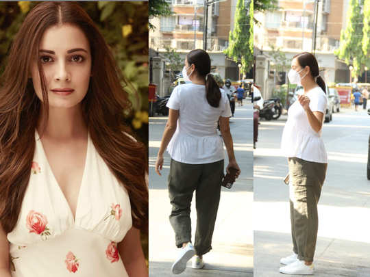 dia mirza clicked at clinic in bandra spotted for the first time after announcing pregnancy